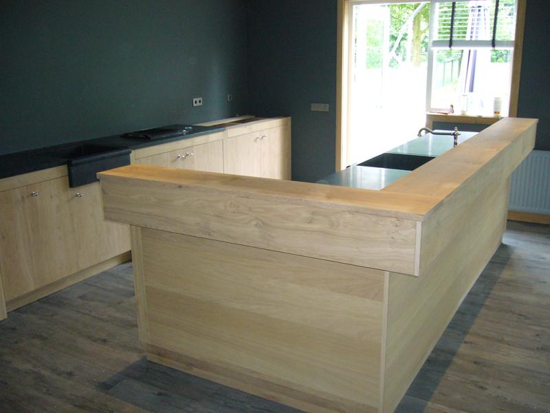 Keuken Bar Zelf Maken : Keuken eiken met antraciet Te Boveldt Meubelmakerij & Interieurbouw