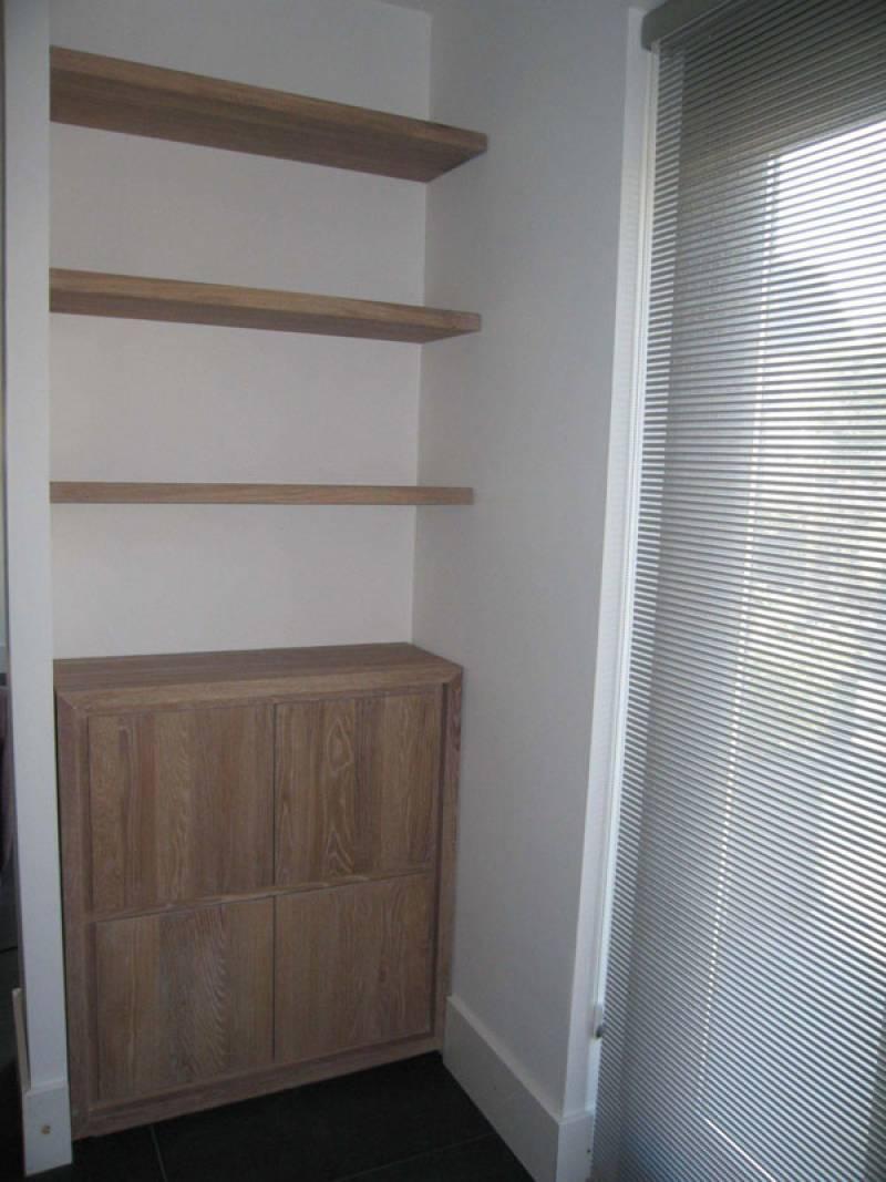 Goedkope Keuken Opbergkast : Keuken Met Nis : Keuken Met Planken En Vitrine Kasten Gemaakt Door