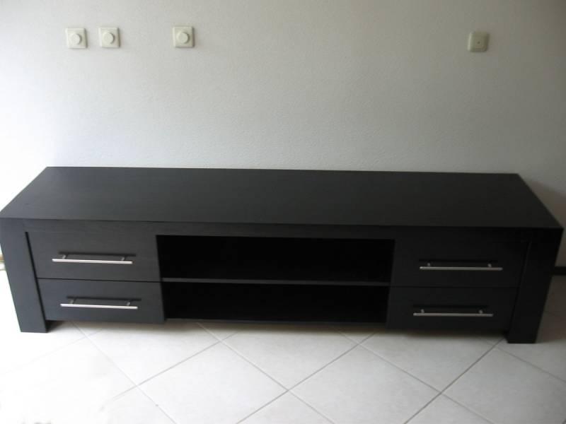Tv meubel eikenhout zwart gebeitst zijdeglans : Te Boveldt ...