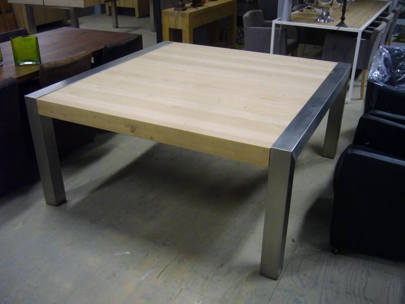 Vierkante eettafel rvs poot te boveldt meubelmakerij for Vierkante tafel