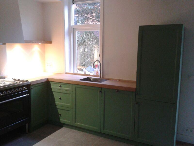 Keuken oud Hollands groen gespoten  Te Boveldt Meubelmakerij ...