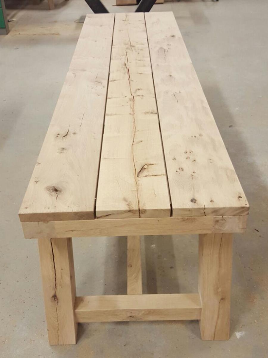 Robuuste tafel eikenhout brede planken   Te Boveldt Meubelmakerij  u0026 Interieurbouw
