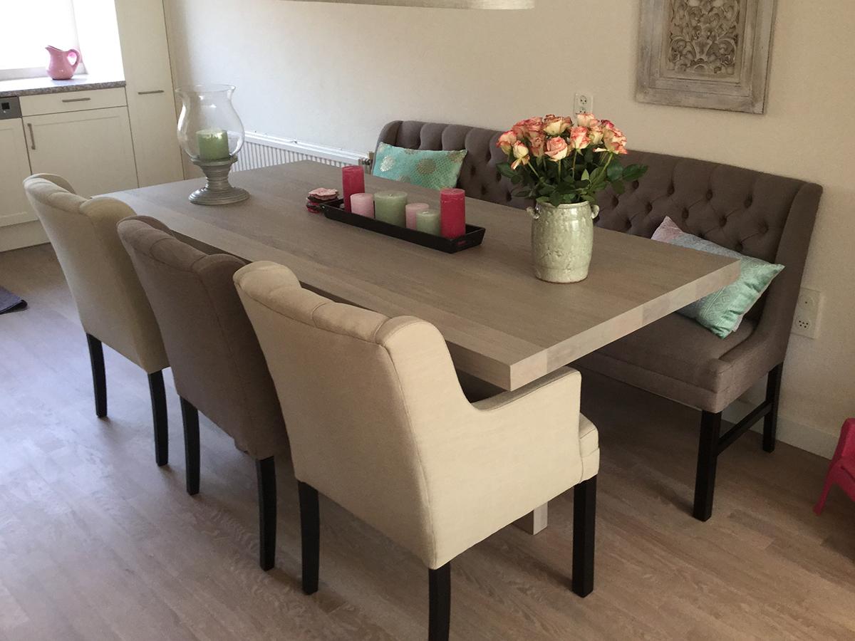 eettafel met bank en stoelen loungeset 2017