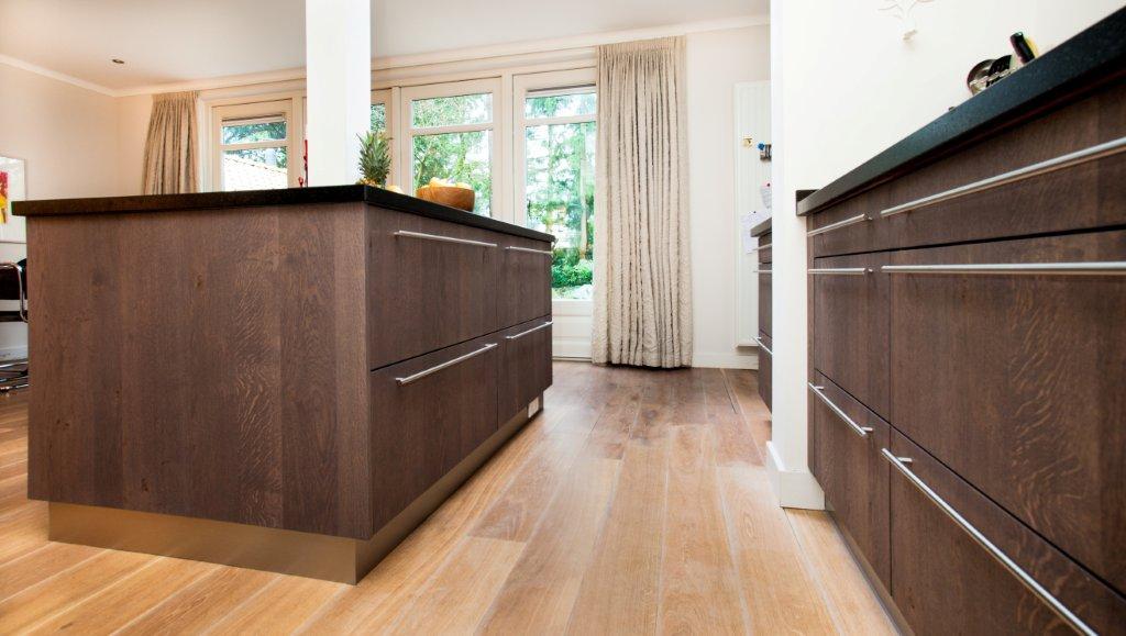 Eikenhout In Keuken : Keuken eikenhout composiet RVS Te Boveldt Meubelmakerij