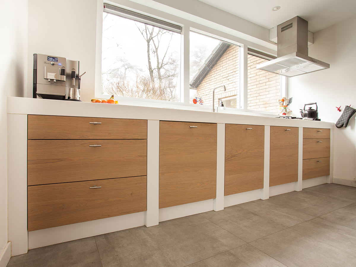 Keuken Eikenhout Himacs Ral Modern Te Boveldt Meubelmakerij