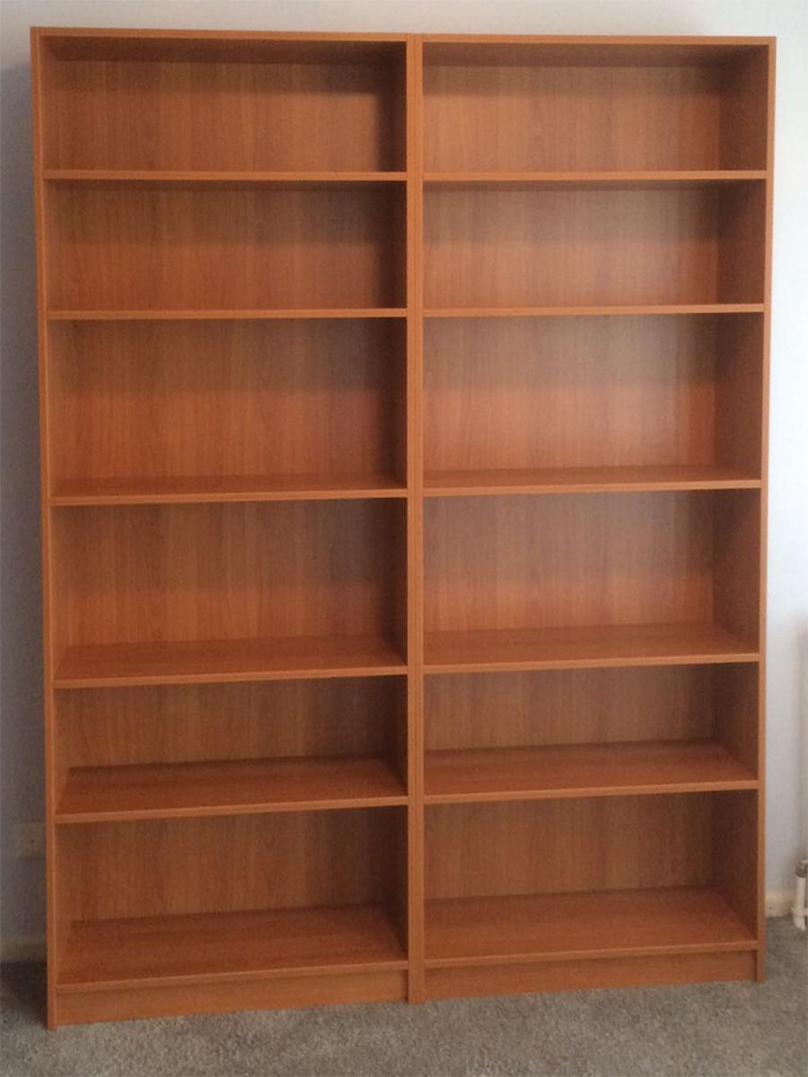boekenkasten kersenkleur maatwerk