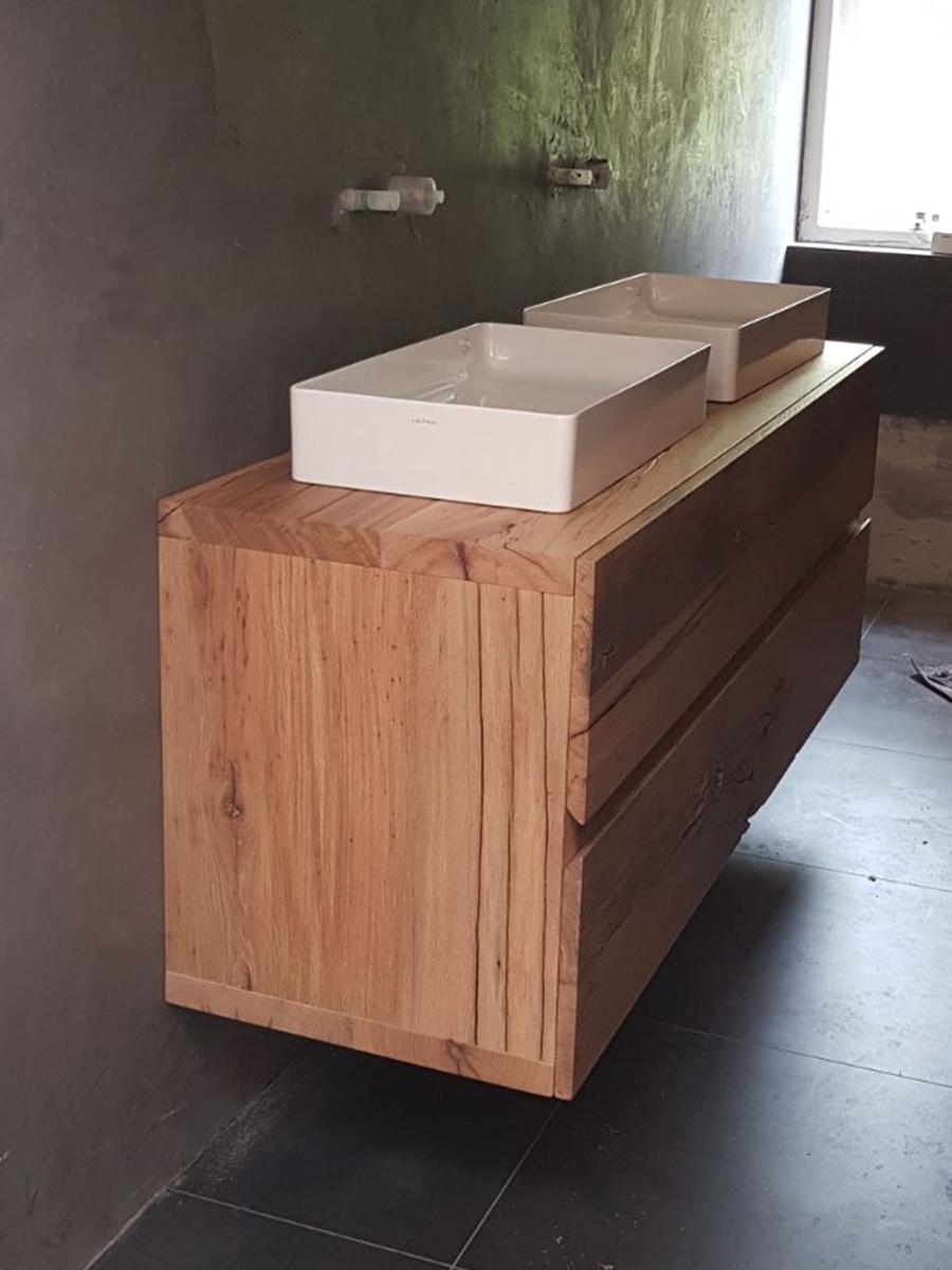 badkamermeubel robuust eiken stoer laden te boveldt