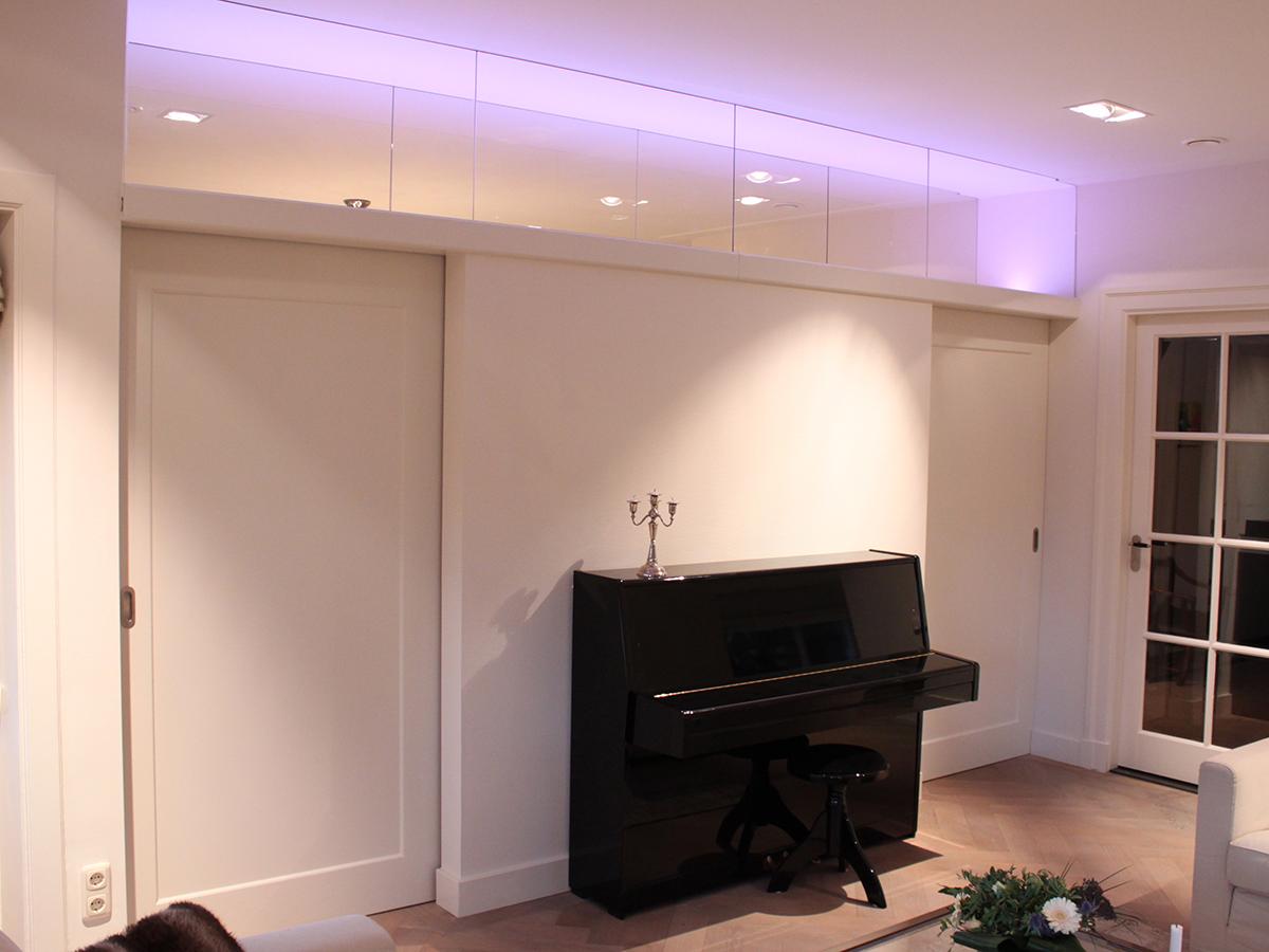 kamer en suite led verlichting eikenhout ral zijdeglans