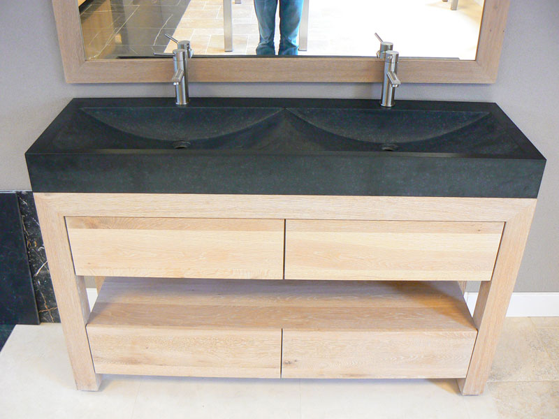 Badkamermeubel Op Pootjes : Badkamermeubel hout op maat idee u estathuis