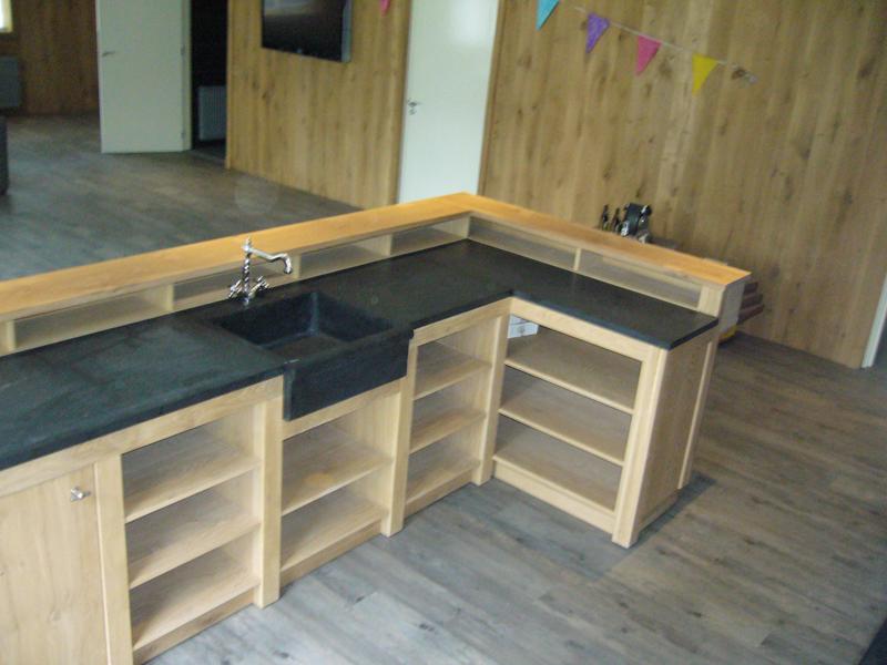 Keuken eiken met antraciet te boveldt meubelmakerij for Zelf je keuken ontwerpen