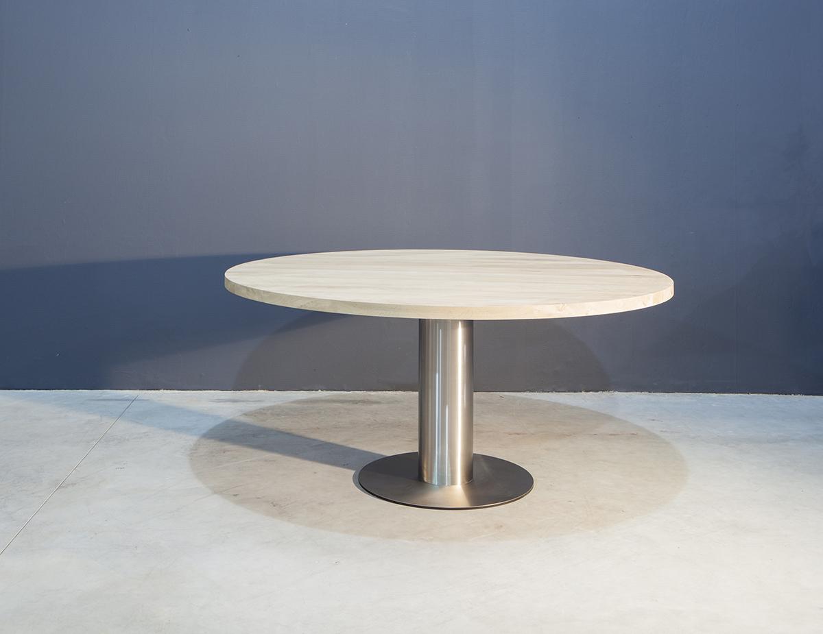 Witte ronde tafel. cool ronde tafel met wit formica blad with witte