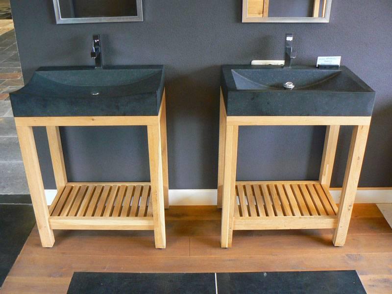 Badkamermeubel natuursteen eiken te boveldt meubelmakerij interieurbouw - Badkamermeubels steen ...