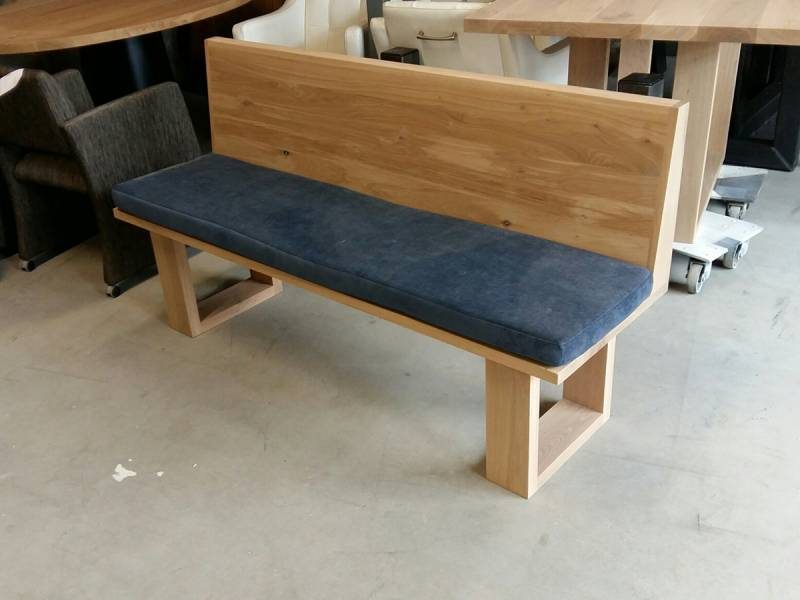 Kussen Voor Bank : Bank eikenhout los kussen te boveldt meubelmakerij interieurbouw