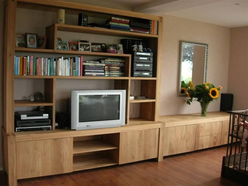 boekenkast wandmeubel met tv dressoir