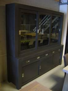 Buffetkast eiken ral kleur glas rvs te boveldt meubelmakerij interieurbouw - Keuken glas werkplaats ...
