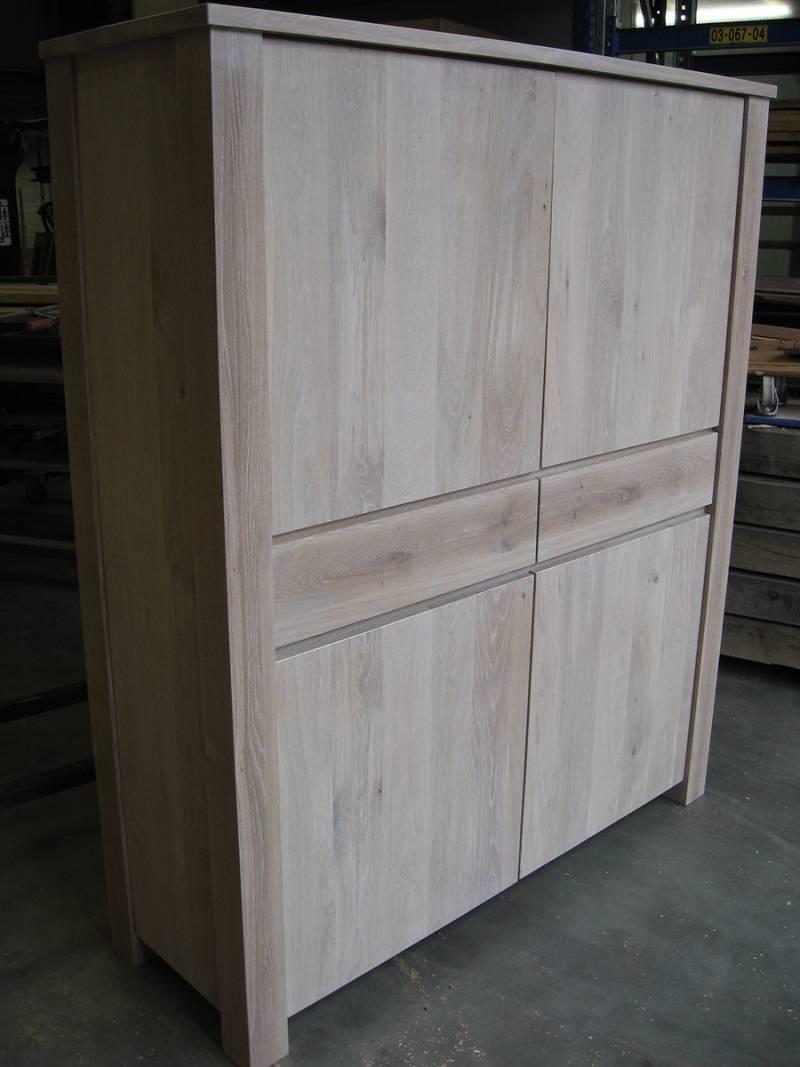 Buffetkast licht rusiek eiken deuren laden te boveldt meubelmakerij interieurbouw - Keuken licht eiken ...