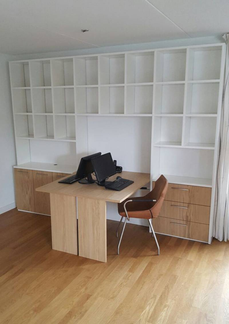 bureau boekenkast eikenhout mdf ral modern