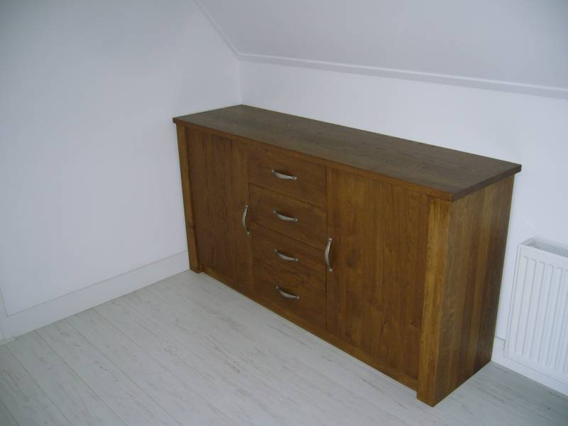 Dressoir eiken dubbel gerookt olie softclose te boveldt meubelmakerij interieurbouw - Kledingkast en dressoir ...