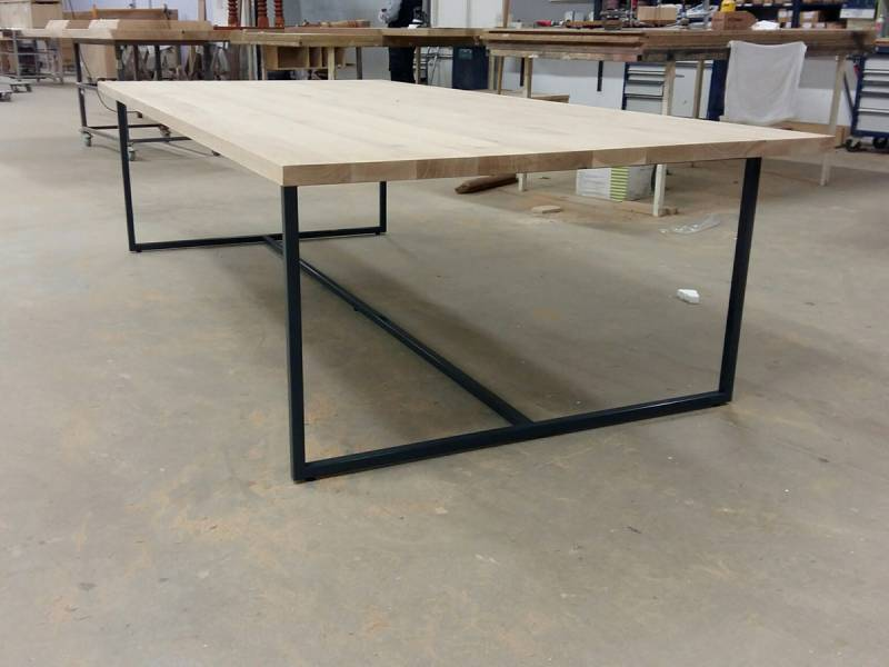 Eettafel bureau werkplek gepoedercoat staal eiken  Te Boveldt ...