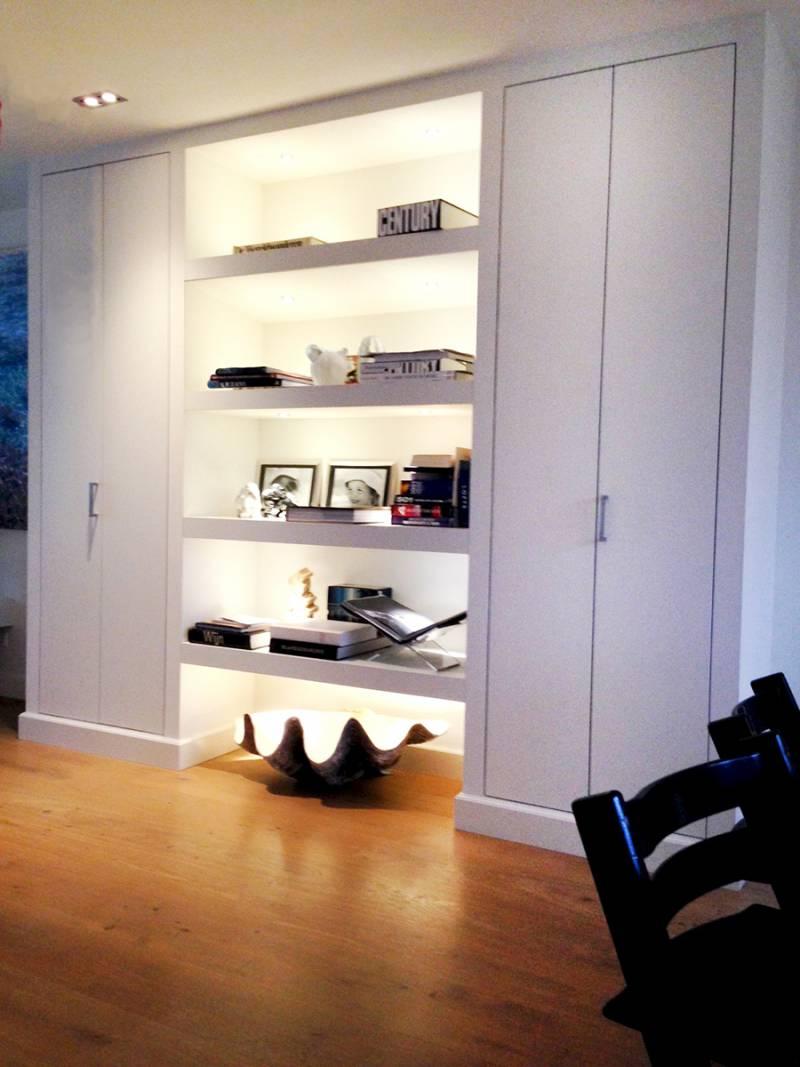 Inbouwkast deuren open LED Verlichting RAL zijdeglans | Te Boveldt ...