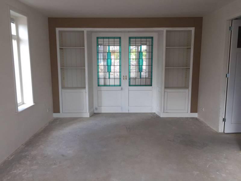 Kamer en suite glas in lood mdf te boveldt meubelmakerij