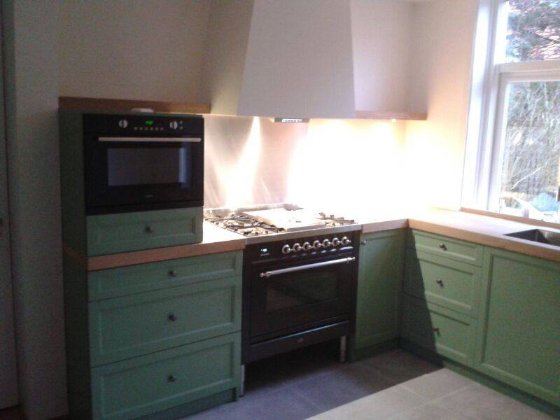 keuken oud hollands groen gespoten deze groen gespoten keuken is ...