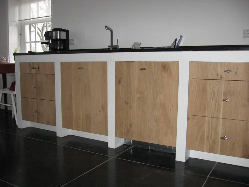 Keuken Witte Kaders Eikenhout Te Boveldt Meubelmakerij Interieurbouw