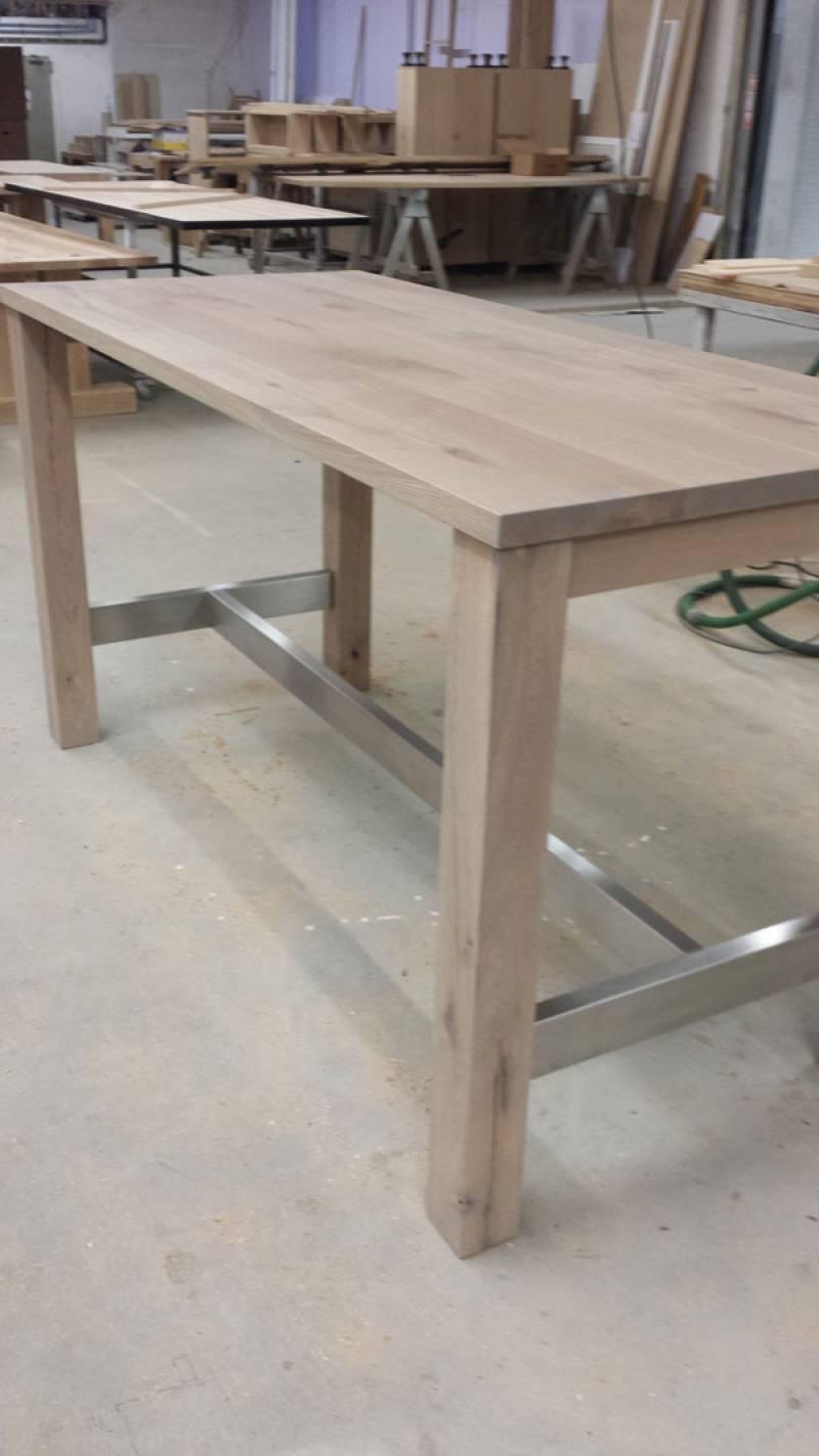 Moderne bartafel met rvs te boveldt meubelmakerij interieurbouw - Cuisin e met bartafel ...
