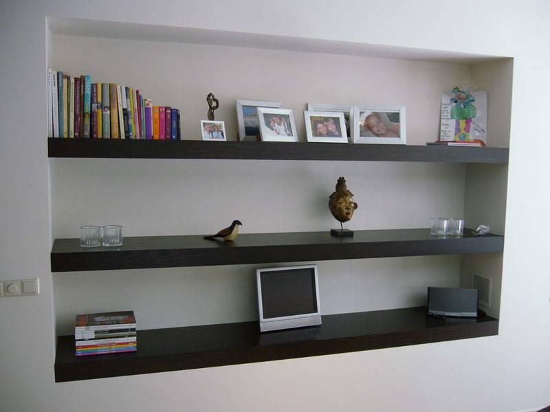 Moderne boekenplanken wenge te boveldt meubelmakerij interieurbouw - Moderne boekenkast ...