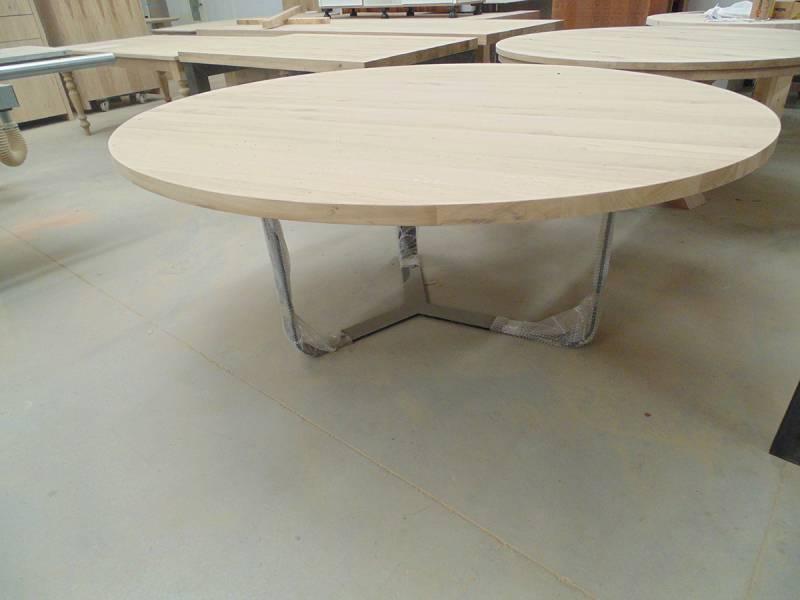 Tafel Onderstel Maken : Ronde tafel staal rank onderstel eiken te boveldt meubelmakerij