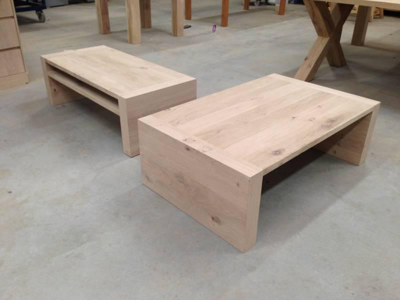 Salontafel modern eiken legplank   Te Boveldt Meubelmakerij  u0026 Interieurbouw