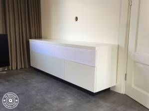Tv dressoir zwevend speakerstof