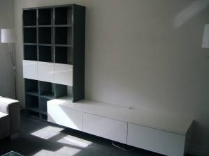 Tv dressoir en boekenkast