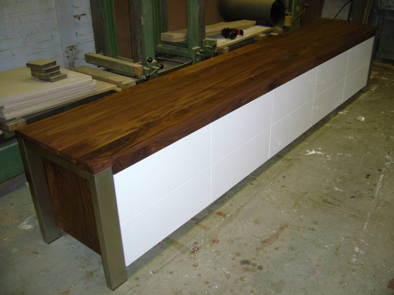 Tv meubel walnotenhout rvs hoogglans ral te boveldt