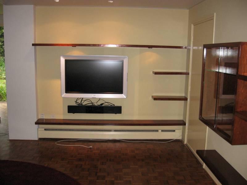 Tv meubel zwevende planken kersen hoogglans gelakt  Te Boveldt ...